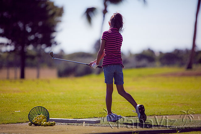Learning Golf at Koolina