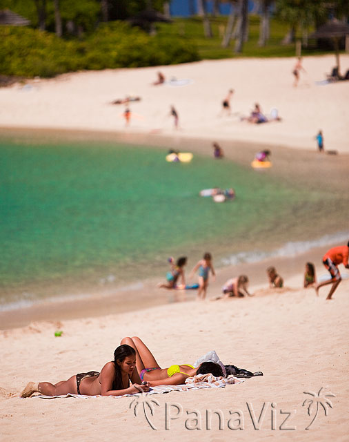 Relaxing at KoOlina Beach